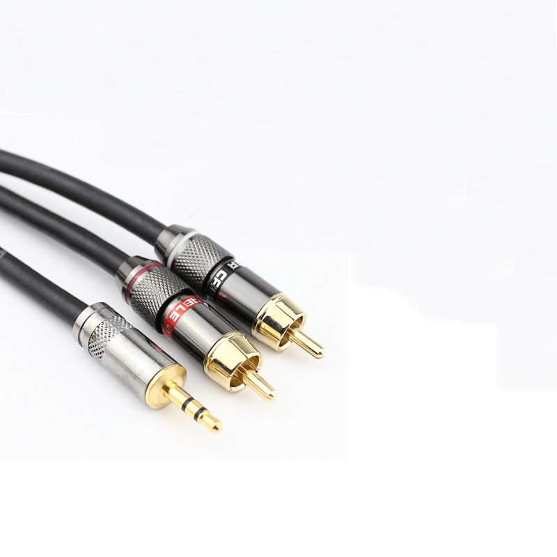 RCA Cable 2rca to 3.5 audio cable rca 3.5mm Jack male to male rca aux cable for amplifier Phone Edifer Home Theater DVD ...