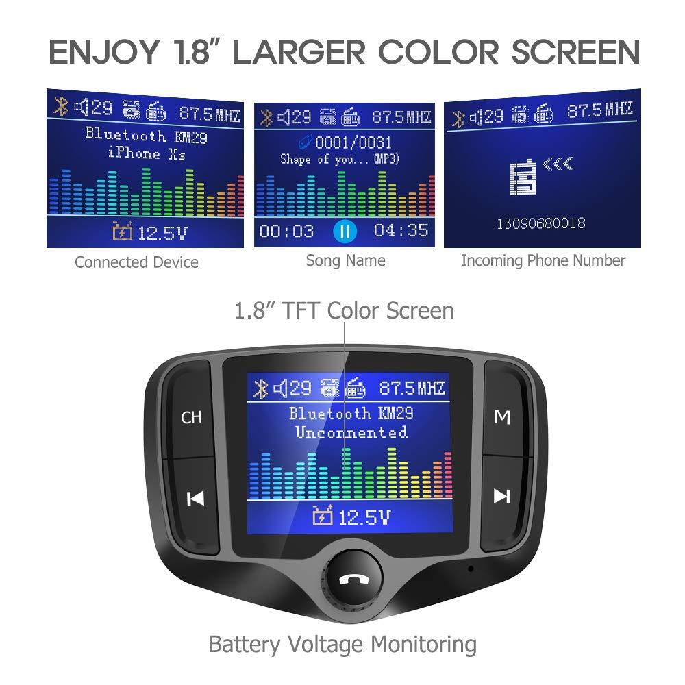 Pleasant Nulaxy Km29 Bluetooth Fm Transmitter 1 8 Farbe Bildschirm Auto Wiring Cloud Hisonuggs Outletorg