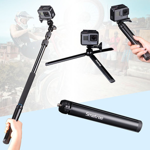 Image 3 - Smatree SmaPole For GoPro hero7/6/5/4/3 Session Cameras Ricoh Theta S Telescoping Selfie Stick Tripod Stand for DJI Osmo Action