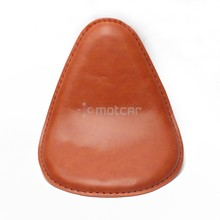1pcs Motorcycle Brown Old School Torsion Leather Solo Seat Universal For Harley Chopper Bobber Saddle