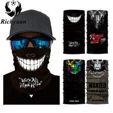3D бесшовная Балаклава волшебный шарф для шеи маска для лица Призрак Череп Скелет голова бандана щит повязка на голову головные уборы банданы для мужчин велосипед