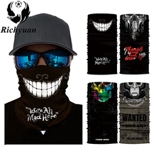 3D Seamless Balaclava Magic Scarf Neck Face Mask Ghost Skull Skeleton Head Bandana Shield Headband Headwear Bandanas Men Bicycle 2016 new fashion women mens multifunctional headwear skull bandana helmet neck face head mask halloween turban