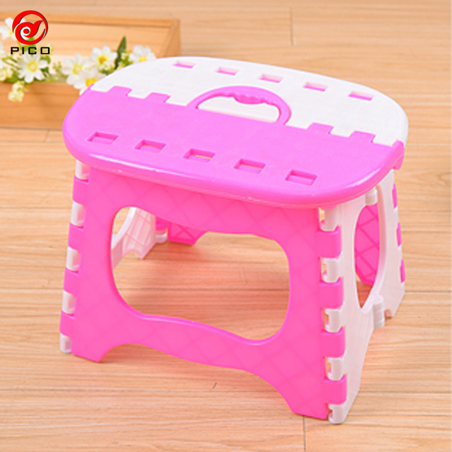 Load Bearing 40kg Children Folding Chair Portable Outdoor Child Camping  Picnic Step Stool Plastic Foldable