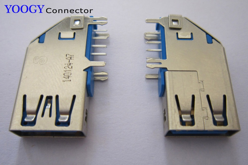 Long section Side vertical Female USB 3.0 connector, long=28mm common use server and computer motherboard