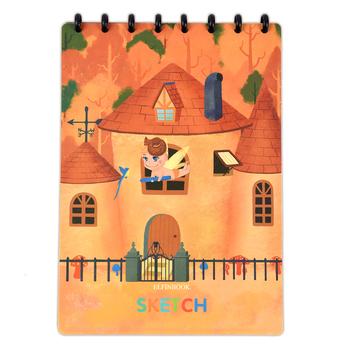 Elfinbook Sketch pads zestaw kolorowych Scratch Art Magic A4 papier do malowania notatnik school office suppplies tanie i dobre opinie Cyfrowy tabletki Special Paper OwlTree Graficzny Tabletki