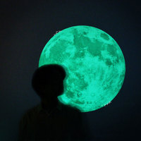 40cm Luminous Wall Stickers For Kids Room Decoration Glow In The Dark Wall Sticker Moon 3d