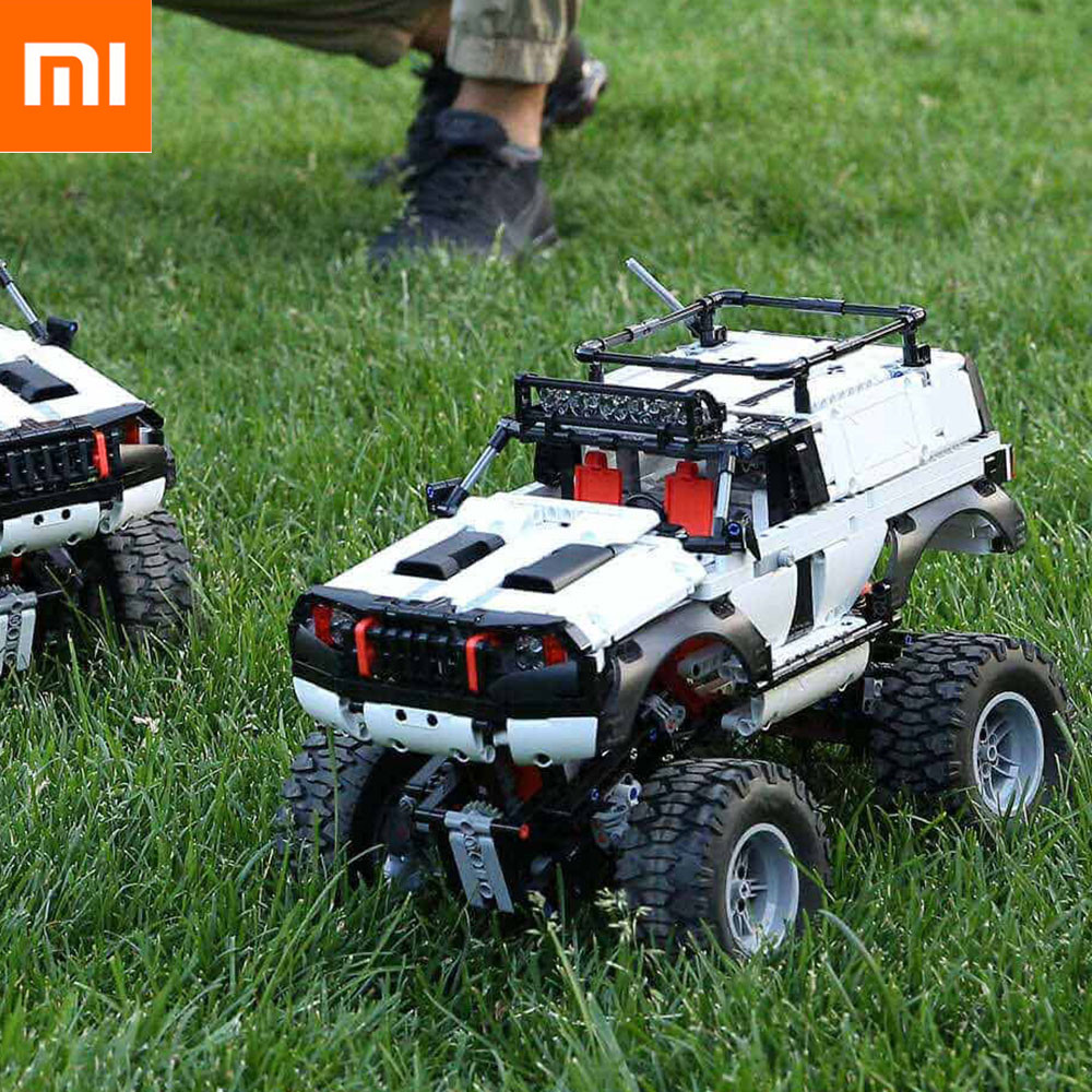Xiaomi Intelligent 4WD Off-Road Vehicle Graphic Programming Building Blocks Onebot Os 3D Drawings Bluetooth 4.2 Racking Car image