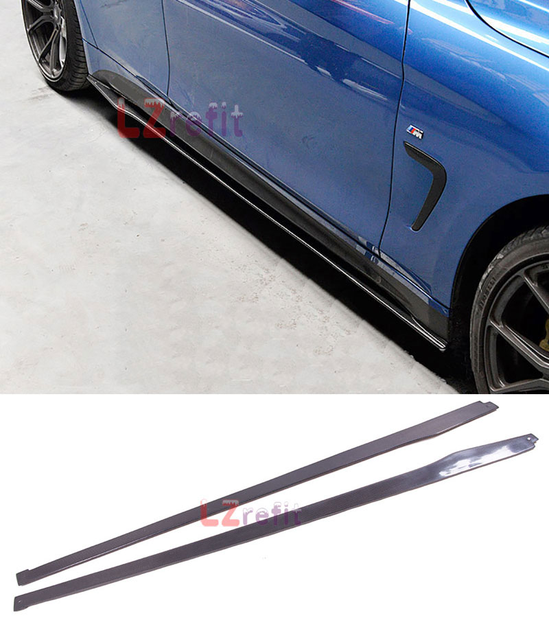MP Style Real Carbon Fiber Side Skirts Bodykit 1pair For BMW F30 F35 F32 F33 F36 M Sport ...