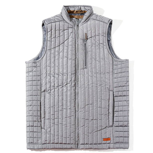 83b769f5bf1 MADHERO Vest Men Lightweight Gray Men s Waistcoat Warm Sleeveless Jacket  Plaid Lining With Inside Pocket European Size Outerwear