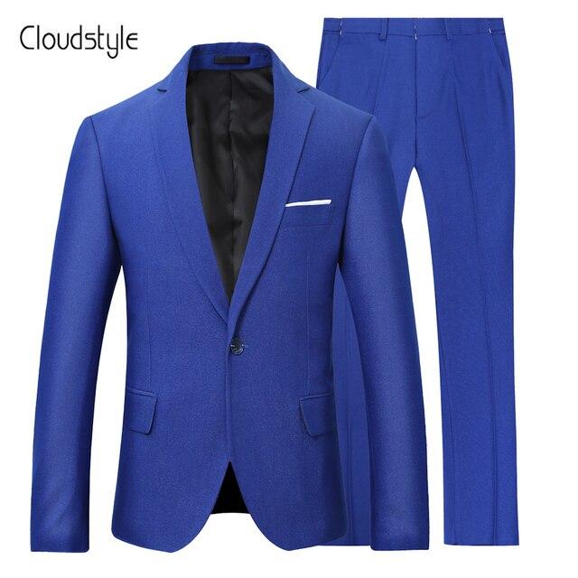 Cloudstyle 2018 hombres Trajes moda dos piezas chaqueta Pantalones terno  slim fit boda Trajes para hombres b0868779a77