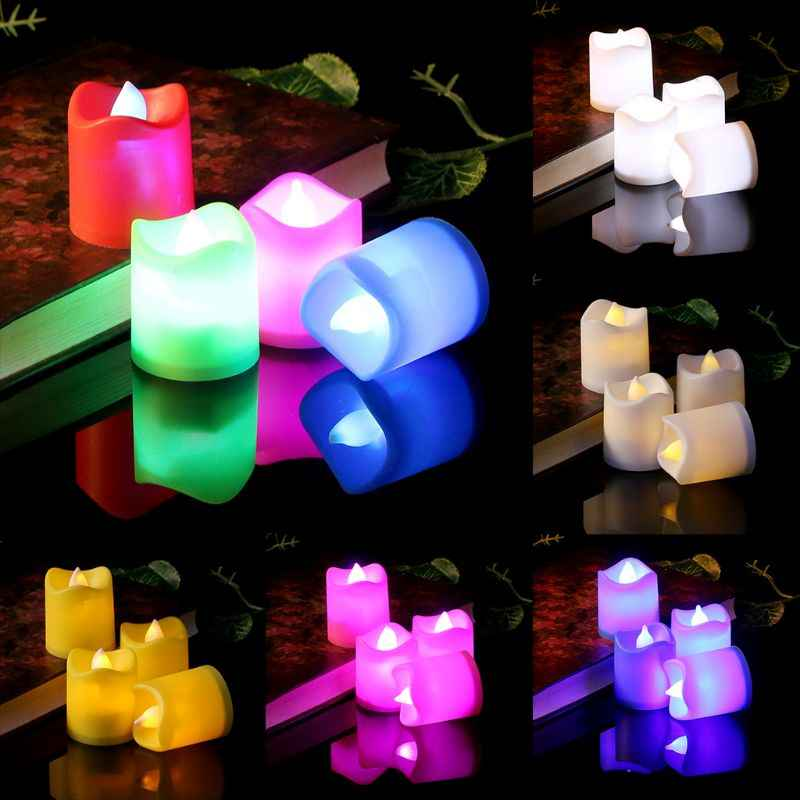 LED Electric Candles Battery Operated Flickering Smokeless Flameless Candle Wedding Party Home Decor Romantic