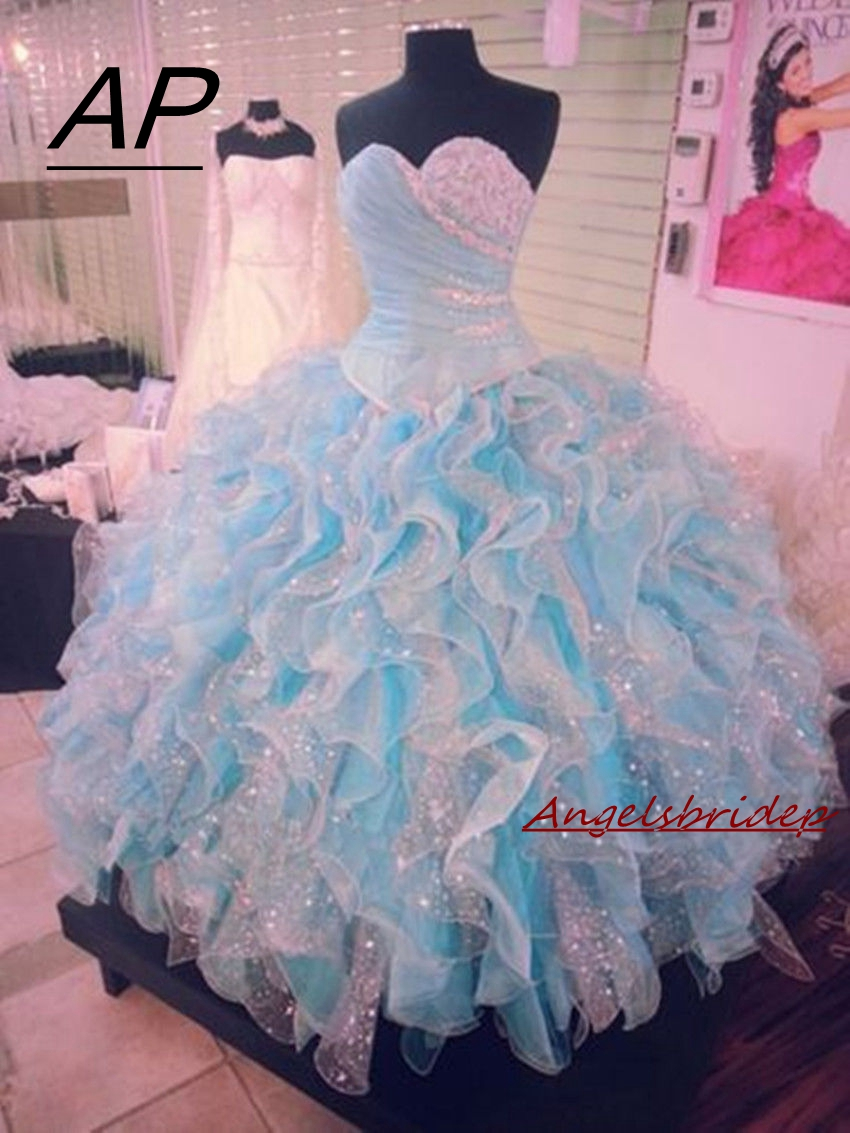 ANGELSBRIDEP Sweet 16 Ball Gown Quinceanera Dresses Fashion Sweetheart Floor-Length Debutante Gowns Special Occasion Party Giown