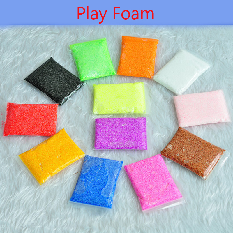 New 6 Colors Play foam Light Soft Colored Modeling Clay Model Magic Air Dry slime Plasticine Play Set Play Dough toy 6pcs