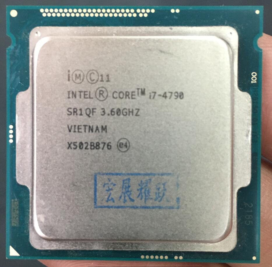 Intel Core Processor I7 4790 I7-4790 CPU LGA 1150 Quad-Core cpu 100% working properly Desktop Processor shipping free original processor intel core i7 2600s i7 2600s quad core 2 8ghz lga 1155 tdp 65w 8mb cache 32nm desktop cpu