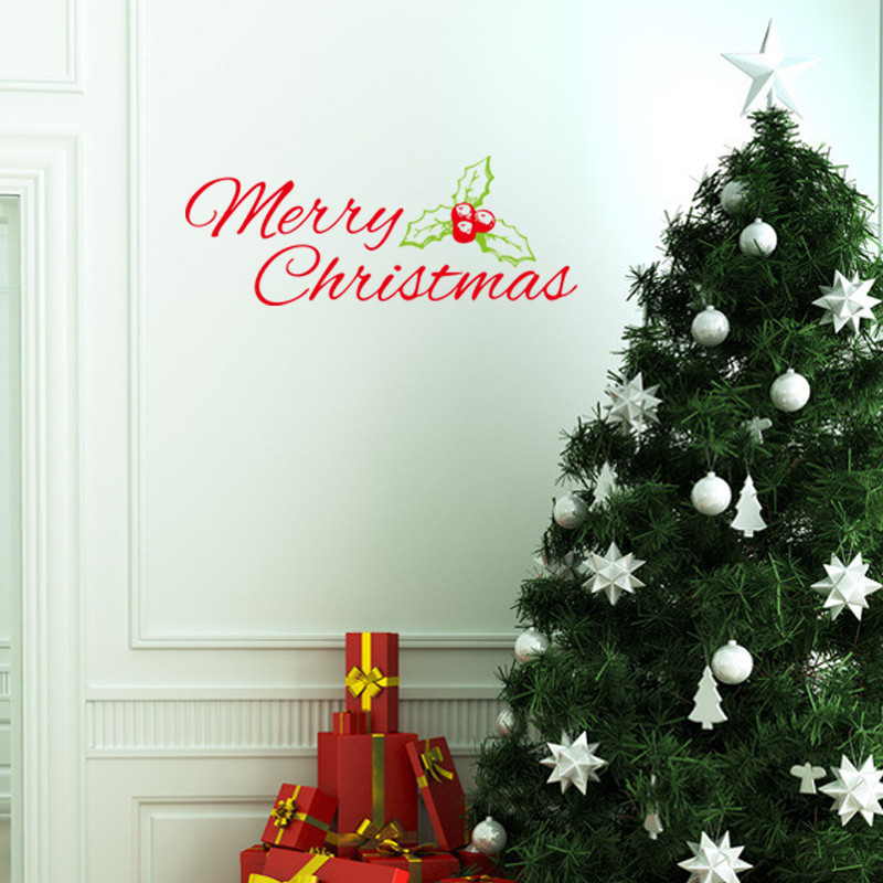 Happy New Year Merry Christmas Decoration Wall Stickers ...
