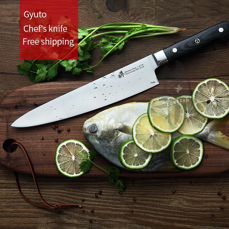 Japanese Gyuto Chefs knife Western Sashimi Sushi Knives fruit knife Multi-func Germany imports 1.4116 steelJapanese Gyuto Chefs knife Western Sashimi Sushi Knives fruit knife Multi-func Germany imports 1.4116 steel