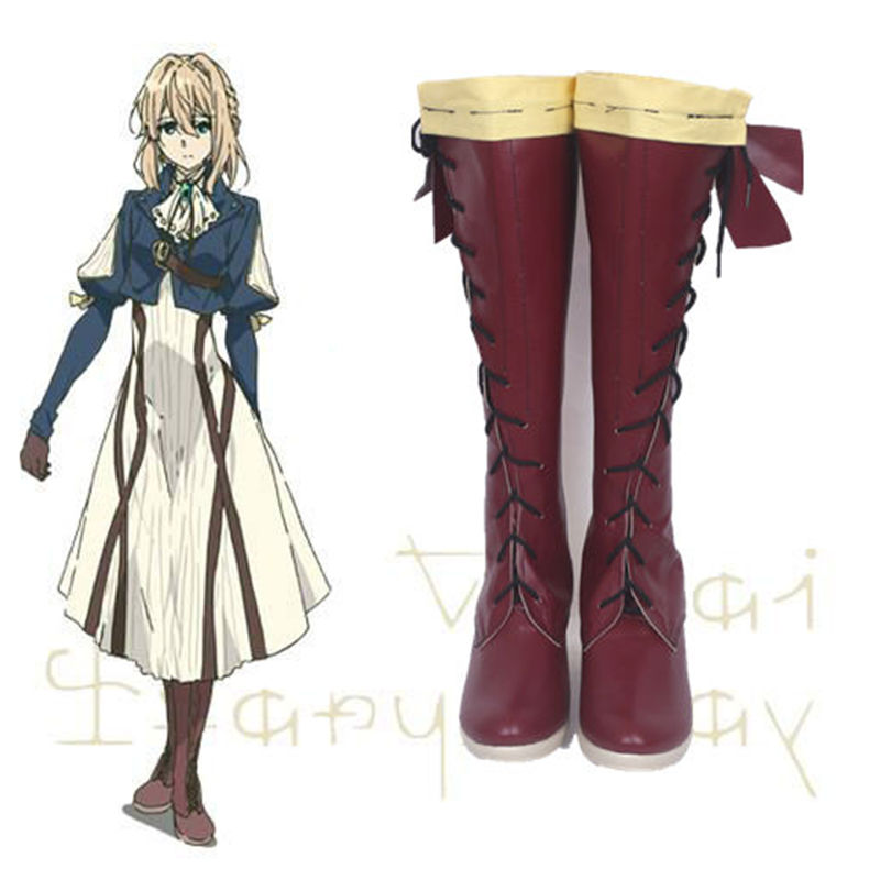COSREA Japanese Anime Violet Evergarden Cosplay Costume Benedict Blue Red Black Boots Party For Adult Man