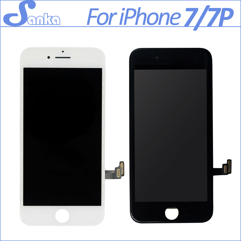 SANKA FOR Apple iPhone 7 7Plus LCD Display Screen with Touch Glass Digitizer Assembly Replacement White Black DHL Shipping