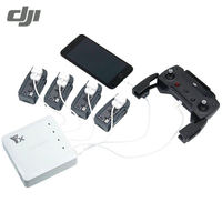 6 In 1 Multi Battery Dual USB Remote Controller Phone Charger Hub Parallel For DJI Spark