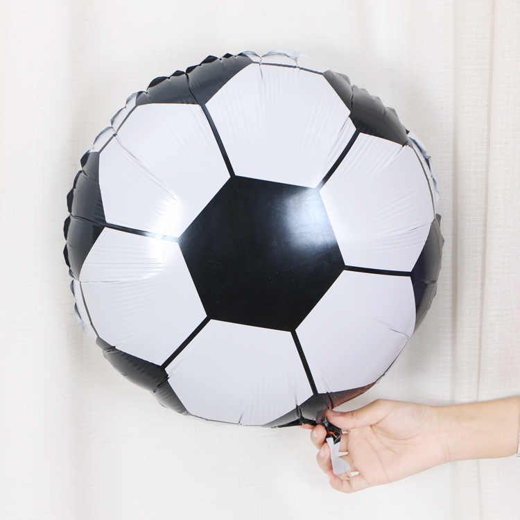 หมวกการ์ตูน 18 นิ้วรอบฟุตบอลอลูมิเนียมบอลลูนบอลลูนปาร์ตี้ตกแต่งของเล่นเด็กขายส่ง