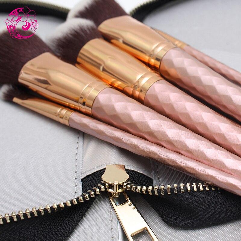 Tesoura de Maquiagem de maquiagem conjunto com o Material : Synthetichair+wood Handle