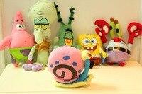 2015 New Products Soft Feel SpongeBobs Cartoon Toys Plush Toys Full Set Of Six Toy Set