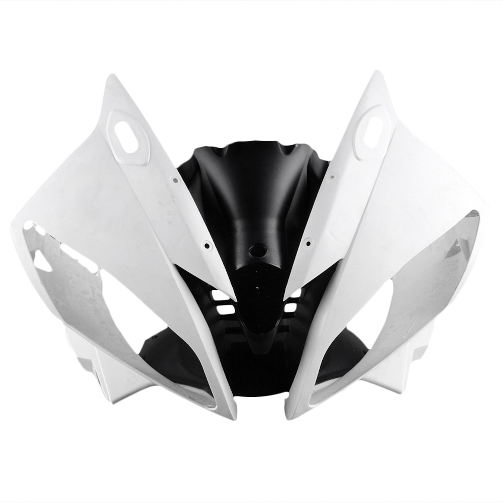 Для Yamaha YZF R6 верхний передний нос капотом обтекатель 2006 2007 Мотоцикл Часть Аксессуары литья под давлением ABS Пластик Неокрашенный Белый