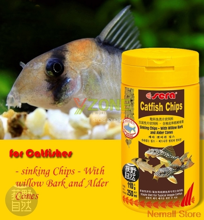 Sera Catfish Chips Tropical Veggie Catfish Fect Pleco Food Feed Spirulina Tabs