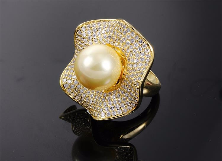 Synthetic pearl  ring (3)