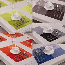 4 unids Cocina PVC Respetuoso Del Medio Ambiente Mesa de Comedor Mat & Pad Estilo de Europa Esteras Manteles de Mesa de Comedor de Aislamiento Almohadillas De Silicona Herramientas