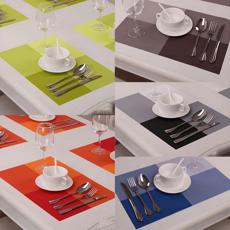 4pcs PVC Kitchen Eco Friendly Dinning Table MatPad Europe Style Insulation Mats Placemats Silicone Pads Tools