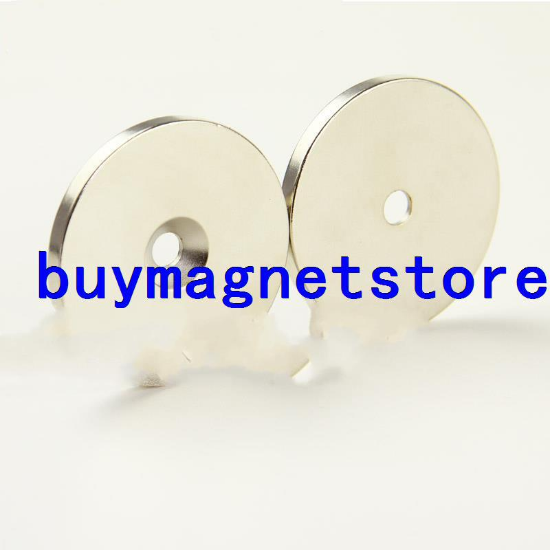 Lots 2pcs 50 mm x 5 mm Hole 6 mm Super Strong Rare Earth Neo Neodymium Disc Magnets earth 2 vol 6