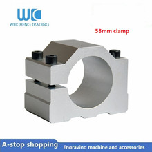 купить 1pc 58mm spindle motor bracket seat cnc carving machine clamp motor holder for 58mm spindle motor по цене 479.03 рублей