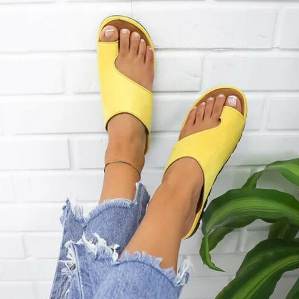 Women PU Leather Sandals Flip Flops Woman Shoes Platform Flat Sole Casual Orthopedic Bunion Corrector Ladies Women PU Leather Sandals Flip Flops Woman Shoes Platform Flat Sole Casual Orthopedic Bunion Corrector Ladies Foot Correction