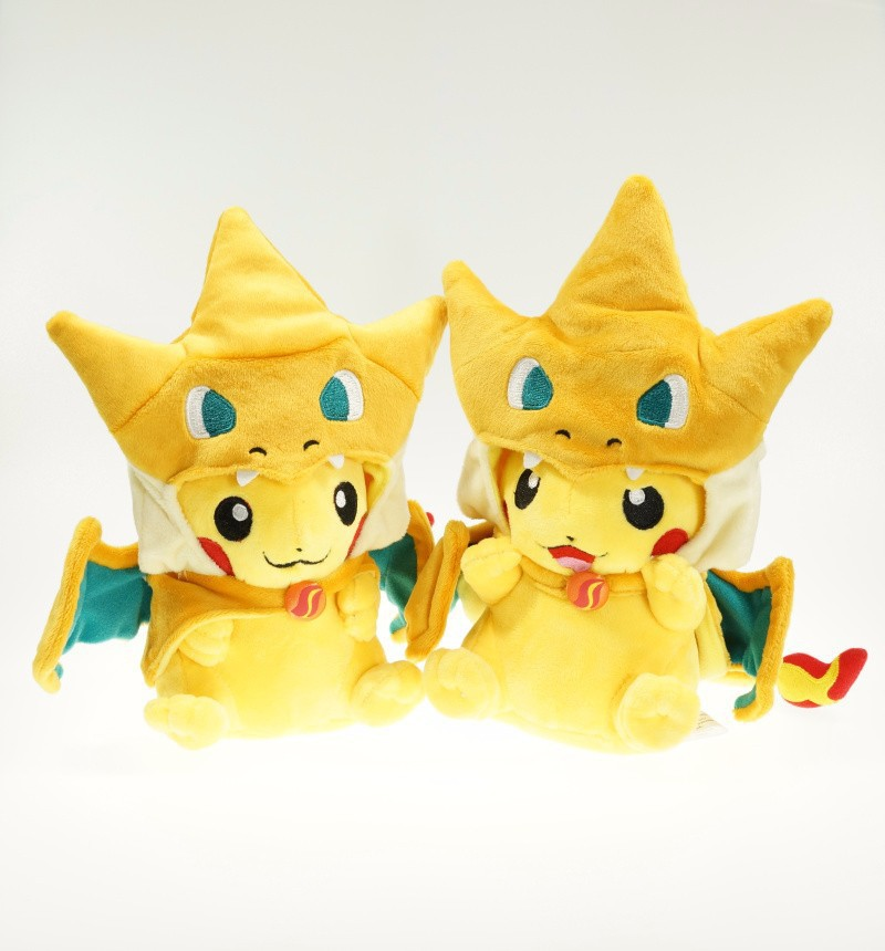 2015 New Cartoon Pikachu Cosplay Charmander Plush Toys Cute Plush Stuffed Animals Soft dolls Fashion Cartoon Plush Toys