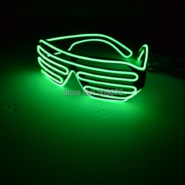 Free Shipping 2pcs/lot Sound Music Voice Activate led glasses El Wire led shutter sunglasses for DJ/Party Supplies