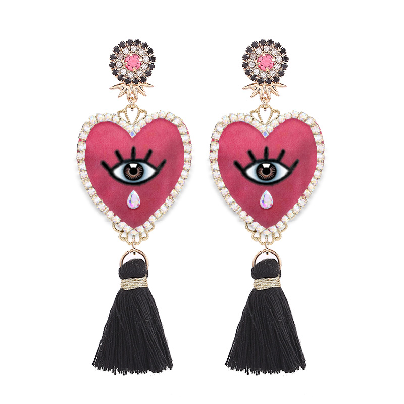 Sehuoran New EYE Pendientes Big Fringe Tassel Earrings For Women Jewellery Boho Earrings Female Rhinestone Pendientes Mujer ModaSehuoran New EYE Pendientes Big Fringe Tassel Earrings For Women Jewellery Boho Earrings Female Rhinestone Pendientes Mujer Moda