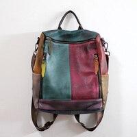 Винтажный рюкзак из натуральной кожи, женский рюкзак для путешествий, сумка на плечо, роскошный школьный рюкзак, дизайнерские рюкзаки высок
