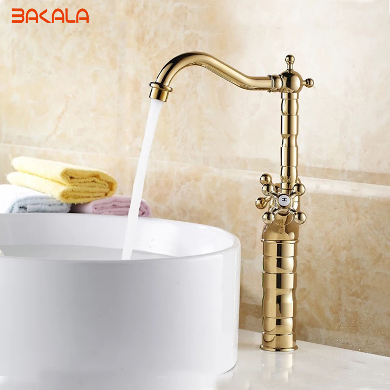 Modern Gold Brass Bathroom Basin Faucet Style Vanity Sink Mixer Tap Deck Mounted Faucet GZ-7307K декор lord vanity quinta mirabilia grigio 20x56