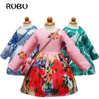 2018 Flower Girl Dress Spring 3 10 Years Floral Baby Girls Dresses Wedding Party Children Clothes