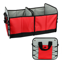 Stowing Tidying Car Trunk Organizer Auto Rear Storage Pouch Interior Accessories Seat Back Tool Bag 55*35cm Folding