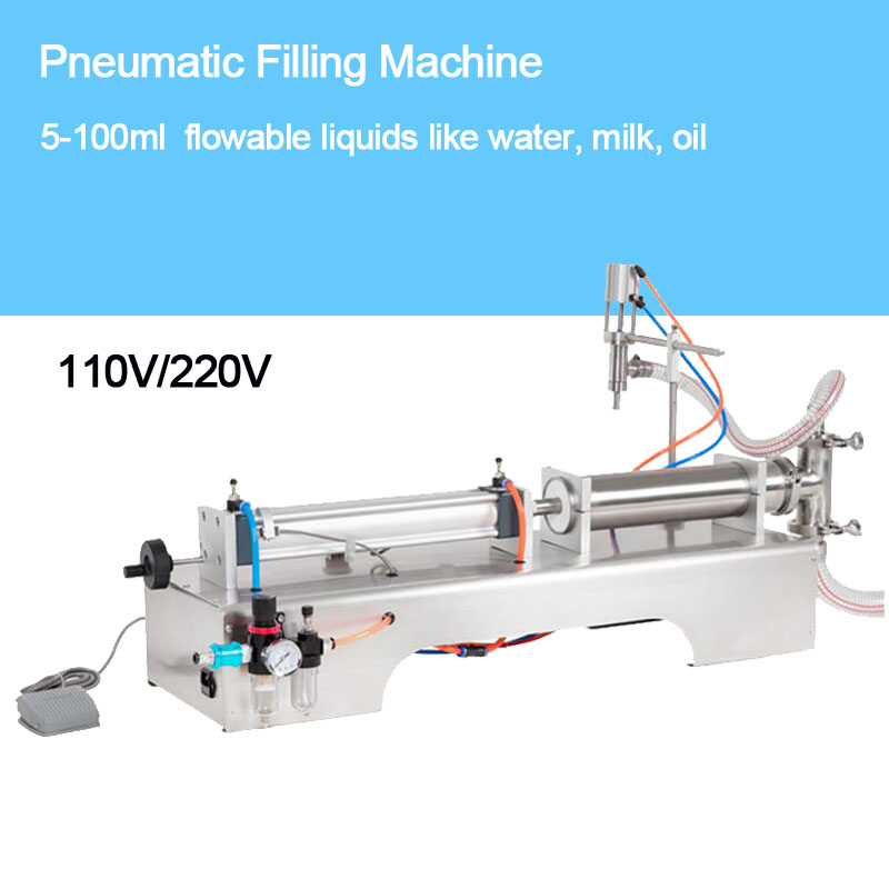 SHENLIN Liquid filling machine 10-100ml 110V/220V water bottling machine piston filler food safe filling equipment cream and oil zonesun pneumatic a02 new manual filling machine 5 50ml for cream shampoo cosmetic liquid filler