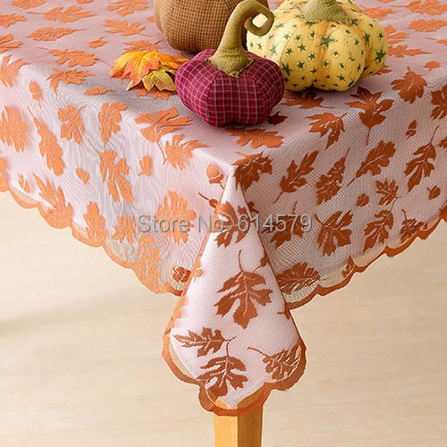 Harvest Fall Tablecloth Lace Leaves Design Rust Or Olive Thanksgiving Table  Linens Tablecloths 60x84 Inch 60x104 ...