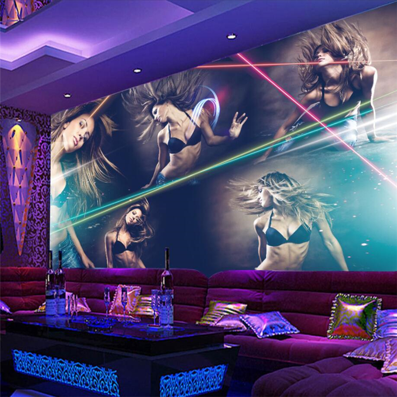 beibehang <font><b>3d</b></font> <font><b>wall</b></font> <font><b>paper</b></font> mural custom <font><b>sexy</b></font> beauty hotel bar nightclub KTV boxing tooling background <font><b>wall</b></font> painting wallpaper image