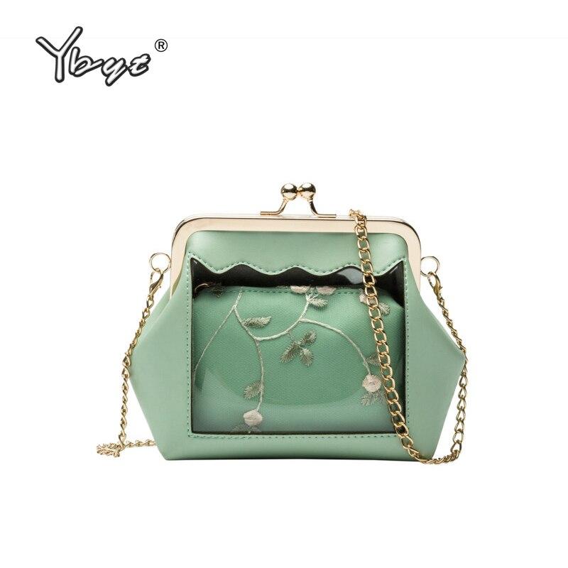 YBYT new fashion Transparent bag for women 2019 small composite hotsale chain shoulder shell bags purse female messenger