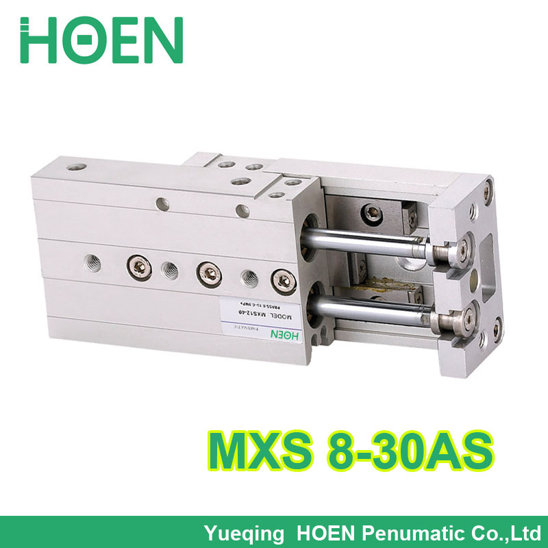 MXS8-30 MXS series Cylinder MXS8-30AS Air Slide Table Double Acting 8mm bore 30mm stroke Accept custom MXS8*30 hls mxs8 30 smc type mxs series cylinder mxs8 30a 30as 30at 30b air slide table double acting 8mm bore 30mm stroke