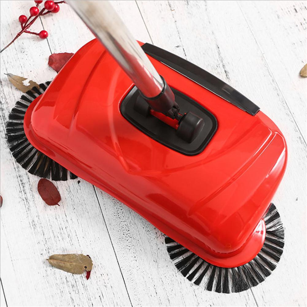 Home No Electricity Sweeper Convenient Broom Innovative Hand-push Vacuum Sweeper Stainless Steel Broom Cleaner
