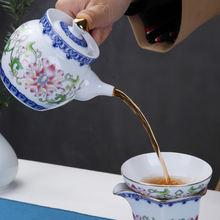 Фарфоровые чайники pinny с ручной росписью сине белые рельефный