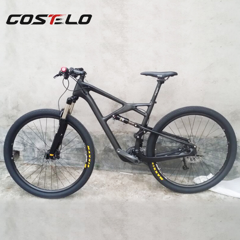 COS098 costelo 29er suspension bike ,full carbon MTB bike suspension MTB frame 29er mountain bike frame ,carbon frameset 2017 mtb bicycle 29er carbon frame chinese mtb carbon frame 29er 27 5er carbon mountain bike frame 650b disc carbon mtb frame 29