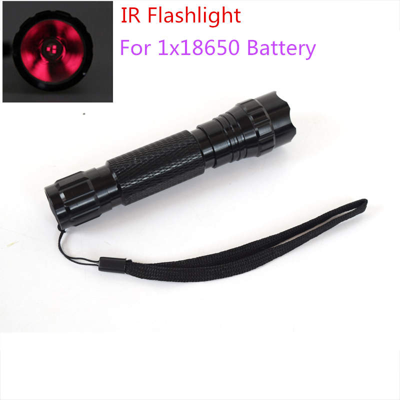 Night Vision Hunting Infrared Flashlight 3 Core 850nm Waterproof Aluminium Rechargeable LED Torch IR Flashlight (NO Battery) ir 850nm 5w night vision infrared zoomable led flashlight torchcamping on off mode with gun clip dual mode remote pressure switc